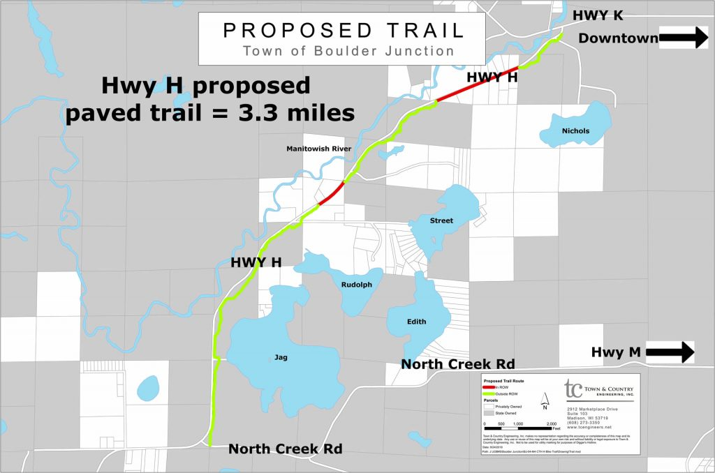 Hwy H proposed paved trail
